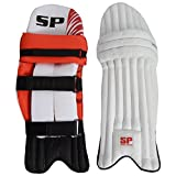 SP Sports Panther Match Unisex Leather And PU Leg Guard Youth White