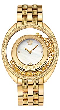 Versace Women's VQO060015 Destiny Precious Analog Display Swiss Quartz Gold Watch
