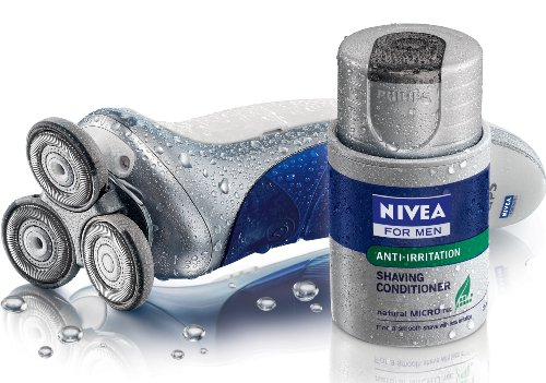 Philips Nivea For Men Coolskin HS8420 Rechargeable Shaver With Battery Indicator