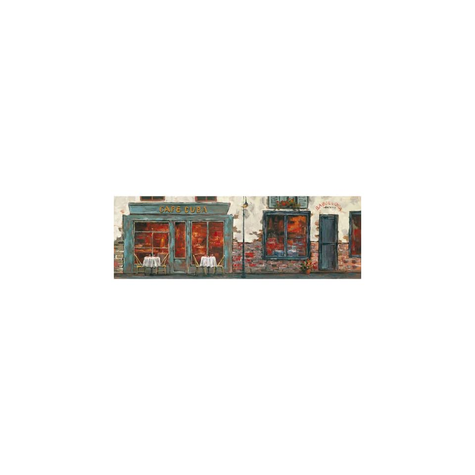 Yosemite Home Decor YG130477A Cafe Cuba Townscape Hand Painted Artwork