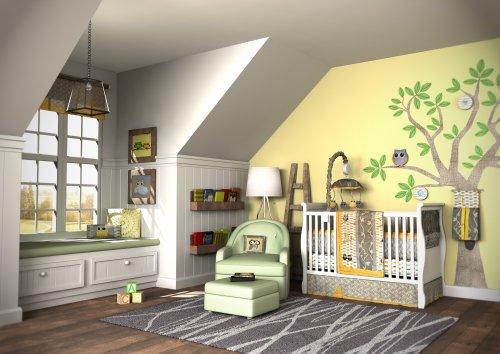 Dk Leigh My Baby Hoo Crib Bedding Set, Owl, 8 Piece front-1075995