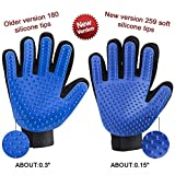 Pet Grooming Glove - Upgraded Version - One Size fits All - for Dogs, Cats, Rabbits, etc.