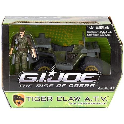 G.I. Joe The Rise of Cobra Alpha Vehicle Tiger Claw ATV with Leatherneck Action Figure