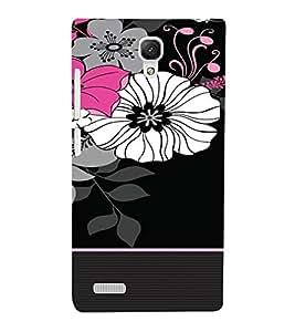 PrintVisa Flower Pattern 3D Hard Polycarbonate Designer Back Case Cover for Xiaomi Redmi Note