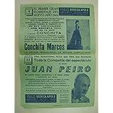 Cartel - Small Poster : SALA DE FIESTAS BODEGA APOLO con Conchita Marcos y Juan Peiro . Barcelona 1963