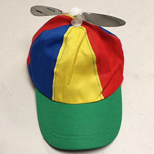 Multi-Color Propeller Cap Adult Helicopter Hat Tweedledum Tweedledee Nerd Clown