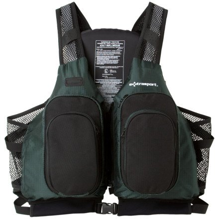 Extrasport Sturgeon Personal Flotation Device Olive/Black, S/M