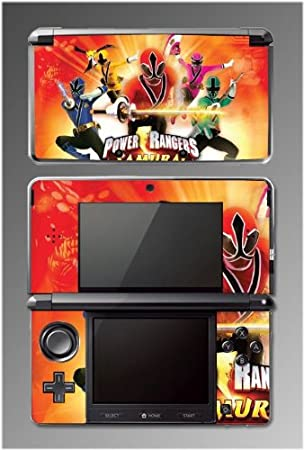 Power Rangers Samurai Red Sword Game Vinyl Decal Cover Skin Protector 4 for Nintendo 3DS