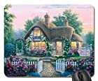 Rose Petal Cottage Mouse Pad, Mousepad (Houses Mouse Pad)