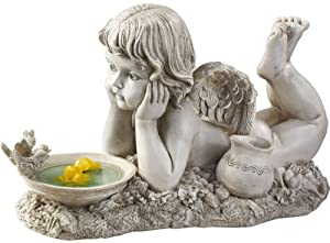 """18.5"""" Baby Angel Cherub Home Garden Sculpture Statue Figurine"""