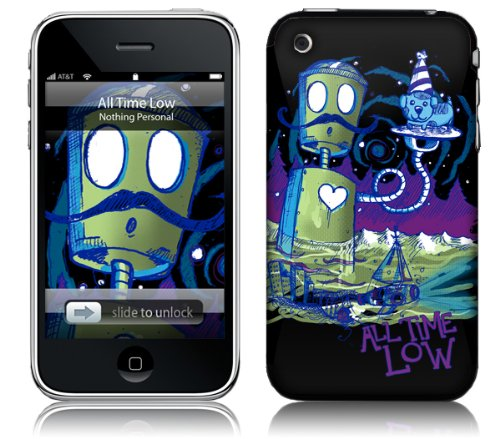 Music Skins iPhone 3G/3GS用フィルム All Time Low - robot iPhone 3G/3GS MSRKIP3G0019