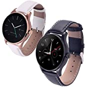 Witmood K88h Round Smart Watch Heart Rate Monitor Wristwatch With Remote Camera Clock Bluetooth For Android And... - B01FU75BX8