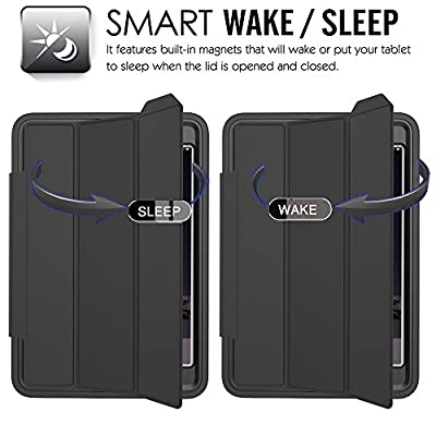iPad Mini Case, Case-cubic Extreme Heavy Duty Full Body Rugged Hybrid Case with Smart Magnetic Sleep / Wake feature PU Leather Cover for iPad by Case-Cubic