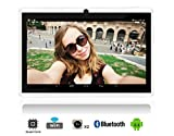 7 inch Android Tablet Computer, Quad Core, Google, Android 4.4 KitKat, For Kids Tablets, With WiFi and Bluetooth, 3D Game Supported, Dual Camera, Google Play Store Pre-Installed- White video review