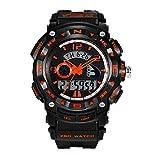 Digital Alarm Analog Waterproof Sport Kids Wristwatch Boys Watch