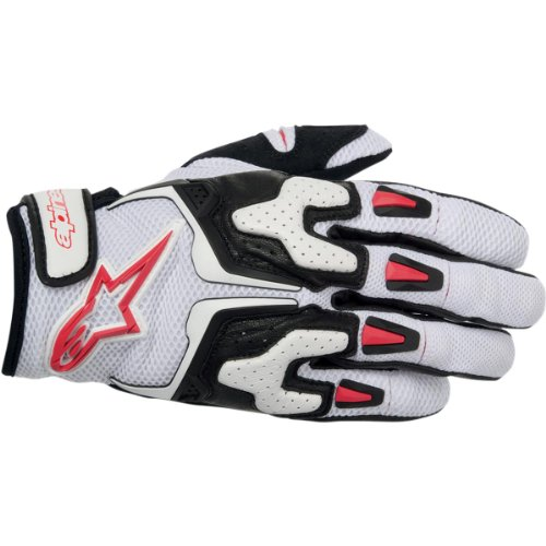 Alpinestars SMX-2 Air Carbon Men's Street Motorcycle Gloves - Black/White/Yellow/Red / Small
