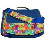 "C.R. Gibson Iota Chic Laptop Messenger Bag Fits Up To 17"" Laptop blue"