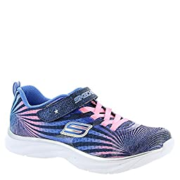 Skechers Girls\' Pepsters Colorbeam Graphic Print Sneaker Navy/Pink 11 M US