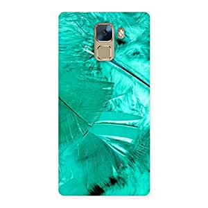 Ajay Enterprises Wonderful Feather Cyan Back Case Cover for Huawei Honor 7