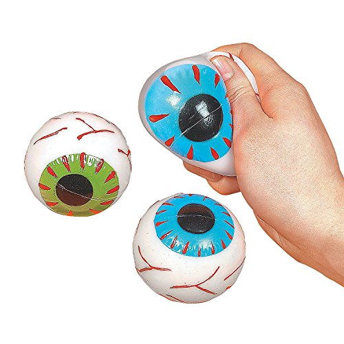 Large Eyeball Sticky Squishy Splat Balls (1 Dozen)