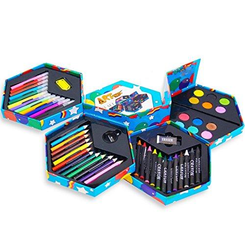 pour-enfant-lot-de-52-craft-art-artistes-set-crayons-boite-stylos-crayons-peintures-a-tete-hexagonal