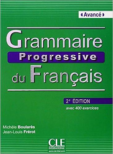 AVANCE GRAMMAIRE PROGRESSIVE DU FRANCAIS PDF NIVEAU