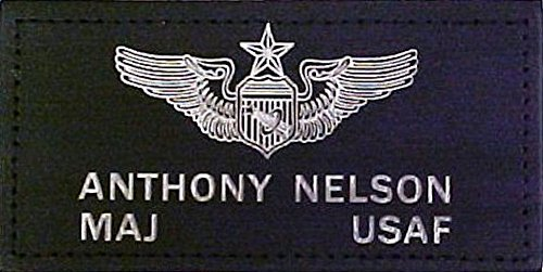 Major Anthony Nelson USAF Flight Badge for Halloween Costumes