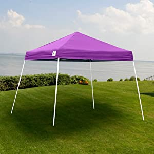 e z up sierra ii slant leg 10 39 x 10 39 pop up canopy purple outdoor canopies. Black Bedroom Furniture Sets. Home Design Ideas