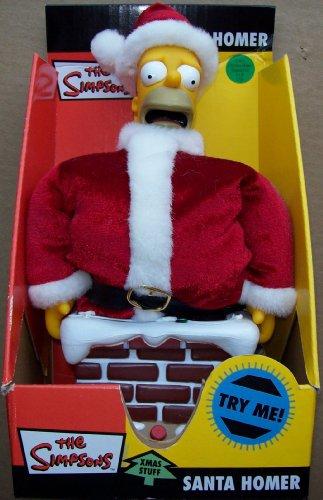 The Simpsons Xmas Stuff Stuck In The Chimney Santa Homer