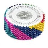 TRIXES 480Pcs Dressmaking Straight Pins Hemming Craft Sewing Tailors Fashion
