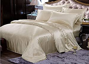 Amazon Com Pure Silk Duvet Cover Pillowcases 3pcs Set