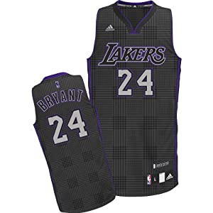 NBA Adidas Los Angeles Lakers Kobe Bryant Rhythm Fashion Swingman Jersey Adult (Adult - Large)