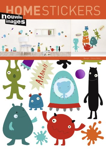 Home Stickers Cute Monsters Decorative Wall Stickers