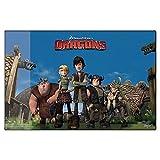 Dragons - Niños Desk Pad - Alfombrilla para ratón 38,5 x 58,5 cm, Dragons:Dragons Friends