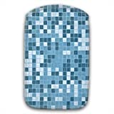 Blue White Mosaic Tile Pattern Soft Fur Lined Mobile Phone Sock Case With Pocket For Samsung Galaxy S3 i9300, Nokia Lumia 820 & 920, Sony Xperia T, Blackberry Q10, Z10