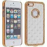 Leegoal (TM) White Gold Luxury Rhinestone Diamond Bling Back Case Cover for iPhone 5 5G
