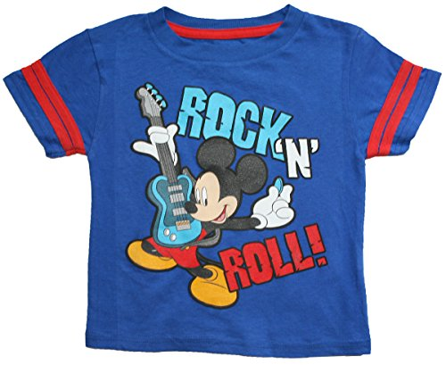 "Disney Little Boys Mickey Mouse ""Rock N Roll"" T Shirt (5T) front-1061001"