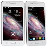 White STAR N9770 - 5.08 inch MTK6577 1.2GHz dual core CPU android 4.0.4 ICE CREAM SANDWICH 3G smartphone dual sim 8MP camera WIFI GPS, new google play store and flash player supported