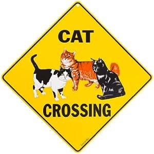 Amazon Com Cat Crossing Sign Yard Signs Patio Lawn