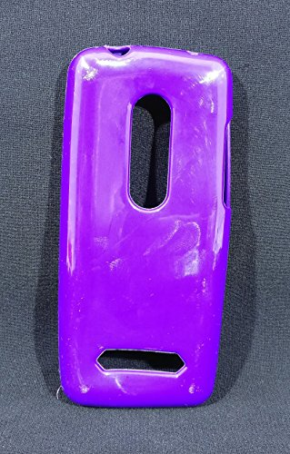 iCandy™ Colorfull Thin Soft TPU Back Cover For Nokia Asha 206 - Purple  available at amazon for Rs.109
