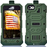 SANOXY® ALL IN ONE JUMBO HEAVY DUTY CASE/ Multifunctional Hybrid Kickstand + Hard Gel Cover Combo Case with Belt Clip for your iPhone 5/5s (ARMY GREEN) Reviews