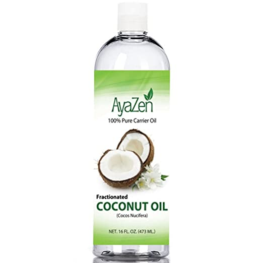 Fractionated Coconut Oil - 100% Pure Premium Coconut Oil - Best Carrier Oil For Essential Oils Or Use Alone As A Moisturizer Or Massage Oil. Large 16 oz Bottle - Ebook With Recipes.