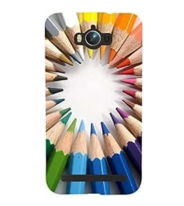 EPICCASE color pencils Mobile Back Case Cover For Asus Zenfone Max (Designer Case)
