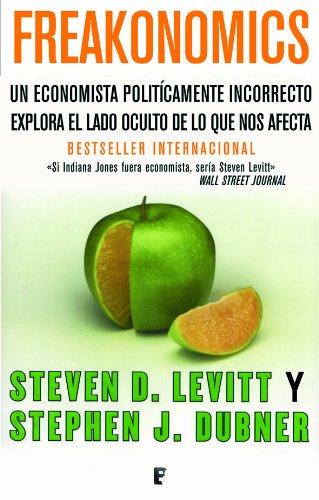 Portada del libro Freakonomics de Stephen J. DubnerSteven D.  Levitt