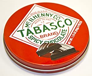 Tabasco Brand Spicy Dark Chocolate Wedges (Pack of 3)