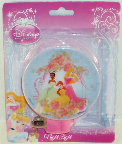 Disney Princess Tiana, Belle & Sleeping Beauty Blue Night Light