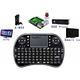 iPazzPort Raspberry Pi Mini Wireless Handheld Remote Control Keyboard with Multi Touch Touchpad Work for Android and Google Smart TV XBMC KP-810-21B