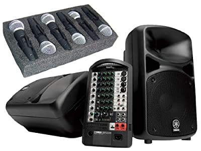 Yamaha StagePAS 600i Portable PA System with 6 Free Microphones Pure Resonance Audio Ultra-Clear UC1S by YAMAHA