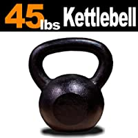 MTN 45 lbs (1pc) Solid Cast Iron Kettlebell (Kettle Bell) - Lowest Price, Fastest Priority Shipment by MTN Gearsmith