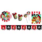 Procos 412249 - Kinderpartyset Jack Pirates, L